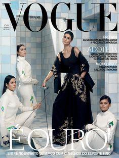 Carol Ribeiro no clima das Olimpíadas na Vogue de julho