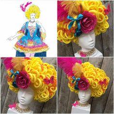 Foam Wigs, Karneval, Costume Design, Impreza, Make Up, Wearable Art, Theater, Shakespeare, Halloween Costumes