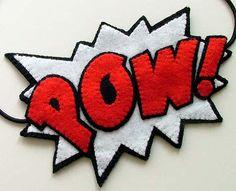 Super Hero POW Headband Comic Book by TheDollCityRocker on Etsy, $25.00