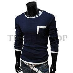 203e568b7baf Men s casual layered style double collar shirt  10.80