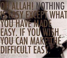 Dua'a to Allah during hardships