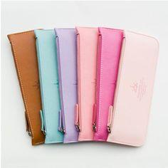Slim Leather Pen Case