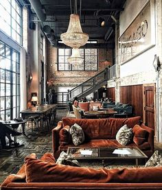 Industrial Style 746612444463930364 - Bon Pic Style Architectural classic Concepts, Source by tanguymailis Vintage Industrial Decor, Industrial House, Industrial Interiors, Industrial Design, Industrial Loft Apartment, Industrial Office, Modern Loft Apartment, Loft Apartment Decorating, Warehouse Apartment