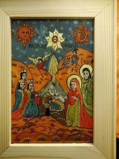 Icoane pe Sticla Holy Family, Nativity, Religion, Glass, Painting, Angels, Icons, Decor, Art