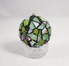 Christmas Ornament Mosaic Ornament Green by PiecesofhomeMosaics