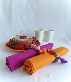 Tea time…… Join us for Dinner napkin rings give the table a joyful touch