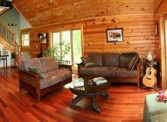 "Living room area #3 in our rental home ""Fern Run Cabin""  Rustic log cabin! Yough Mountain Resort in Deep Creek Lake MD"