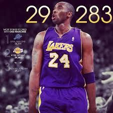 a8db7a3b6c1 Congratulations to Kobe Bryant for passing Michael Jordan for the spot on  the points scored with a single franchise list with his 30 points last  night!
