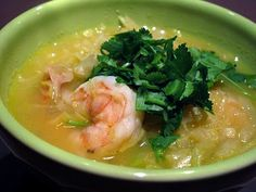Thai Shrimp Soup with Lime and Cilantro