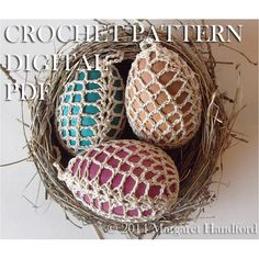 Crochet+Easter+/+Christmas+Egg+Cover+Pineapple+Lace+by+Maralihan