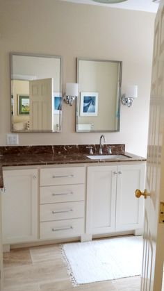Custom Bathroom Vanities In Houston Tx custom mission / stickley style double vanity in quartersawn red