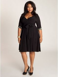 Jaqueline 2-in-1 Plus Size Dress in Black