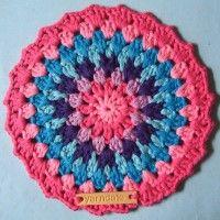 Crochet Mandala Wheel made by  Nicole, Netherlands, for  yarndale.co.uk
