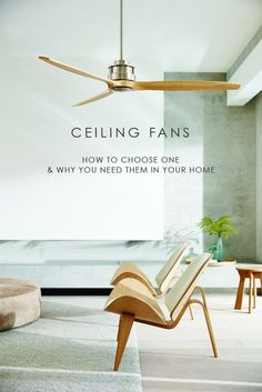 A guide to help you choose the right ceiling fans for your home. You might be surprised at the cost saving benefits of using ceiling fans throughout the year.