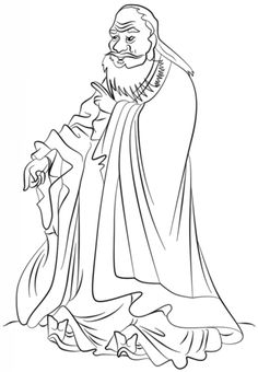 laozi coloring page