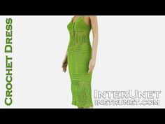 How to crochet a lace summer dress - video tutorial - YouTube