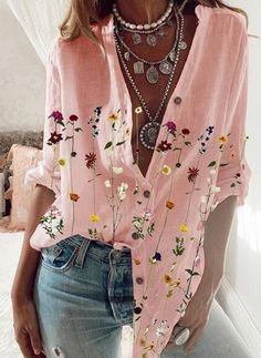 Airydress - Cheap Women's Fashion Hot Sale Online Work Casual, Casual Tops, Casual Shirts, Blouses For Women, T Shirts For Women, Shirt Bluse, Shirt Embroidery, Leggings Fashion, Collar Shirts