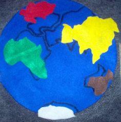 world felt map puzzle