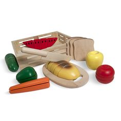 """Melissa and Doug Cutting Food Set in a Wooden Storage Box - Melissa & Doug - Toys """"R"""" Us"""