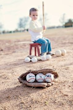 Misty Doyle Photography - Little boy baseball, balls say- noah is Toddler Pictures, Boy Pictures, Boy Photos, Cute Photos, Family Photos, Little Boy Photography, Toddler Photography, Photography Props, 2nd Birthday Photos