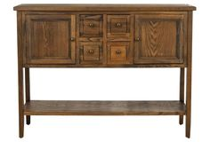 Lestor Sideboard, Oak Finish  not quite the right color