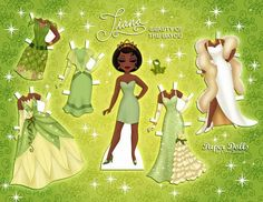 """Disney Tiana """"Queen of the Bayou"""" Paper Puppets, Paper Toys, Paper Crafts, Paper Paper, Lol Dolls, Barbie Dolls, Imprimibles Toy Story Gratis, Disney Paper Dolls, Origami"""