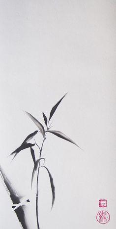 Japanese Painting, Chinese Painting, Japanese Art, Asian Artwork, Chinese Artwork, Black Ink Art, Sumi E Painting, Bamboo Tattoo, Bamboo Art