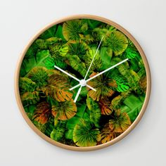 Tropical leaf random pattern painting Wall Clock @pointsalestore    @society6dezigner007  #Wallclock #painting #digital  #oil #watercolor   #pattern #abstract #popart  #palm   #monstera  #monsteradeliciosa #green #exotic   #leaf #leaves #earthday  #mothersday #girly #feminime #floral #plants  #tropic