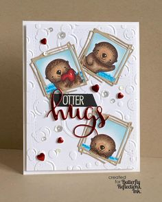 Love these @mftstamps otters! Over on the @butterflyreflectionsink blog today!