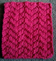 Mock Cable Knitting Pattern