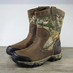 Brahma Magellan Waterproof Protection Leather Boots In Camouflage Mens Shoes Boots, Leather Boots, Men's Shoes, Shoe Boots, Waterproof Shoes, Everyday Shoes, Tassel Loafers, Bag Sale, Loafers Men