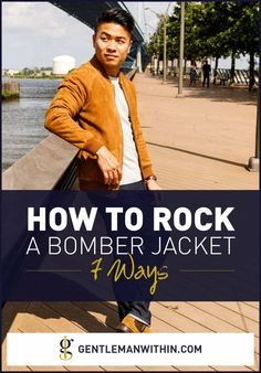 This article is for the guys who want styling inspiration on how to wear a bomber jacket. I've included 7 different ways you can wear one. Mens Spring Fashion Outfits, Best Mens Fashion, Casual Fall Outfits, Spring Outfits, Winter Outfits, Winter Fashion, Modern Men Street Style, Fashion Essentials, Style Essentials