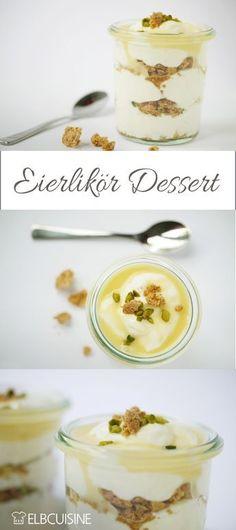 Eggnog-Amarettini dessert with pistachios - Dessert-Ideen - Cupcakes Pistachio Dessert, Dessert Oreo, Dessert Cake Recipes, Köstliche Desserts, Healthy Dessert Recipes, Fruit Recipes, Apple Recipes, Dessert Simple, Heart Healthy Desserts
