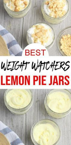 Check out these Weight Watchers Lemon Pie Jars. Easy Weight Watchers desserts re… Check out these Weight Watchers Lemon Pie Jars. Easy Weight Watchers desserts recipe that is quick and delish! Weight Watcher Desserts, Weight Watchers Snacks, Plats Weight Watchers, Weight Watchers Puddings, Weight Watcher Smoothies, Dessert Ww, Ww Desserts, Dessert Recipes, Lemon Recipes