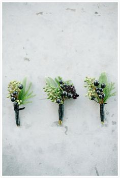 Berry boutonnieres