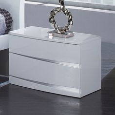 Found it at Wayfair – Aria 2 Drawer Nightstand – Buro Bedroom Furniture Design, Master Bedroom Design, Bed Furniture, Modern Bedroom, Bed Designs With Storage, 2 Drawer Nightstand, Luxurious Bedrooms, Night Stand, Bedroom Products