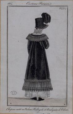 lace trimmed pelisse, 1814