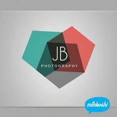 Overlapping transparent colors. Photography Logo Design - Premade Photographer Logo Design.
