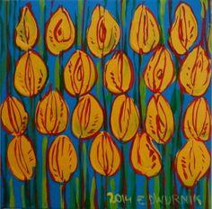 ArtGalery ° PERSONALART.PL tytuł/title: Yellow tulips author: Edward Dwurnik personalart.pl/Edward-Dwurnik