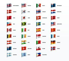 Check Out Country Flag Icons By Vector On Creative Market