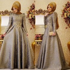 ŞAHSENEM ABİYE FİYATI 445 TL GAMZE POLAT Bilgi ve sipariş için0554 596 30 32… Turkish Fashion, Islamic Fashion, Muslim Fashion, Modest Fashion, Fashion Dresses, Hijab Style, Hijab Chic, Hijab Gown, Kebaya Dress