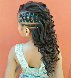 Easy Little Girl Hairstyles, Baby Girl Hairstyles, Kids Braided Hairstyles, Cute Hairstyles, Braids For Short Hair, Toddler Hair, Curly Hair Styles, Natural Hair Styles, Hair Inspiration