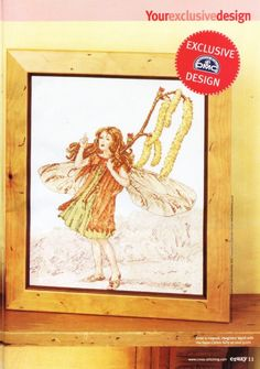 Cross stitch - fairies: Hazel-catkin fairy - Cicely Mary Barker (free pattern with chart)