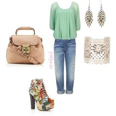 rockin the boyfriend jeans, created by ccrisci on Polyvore