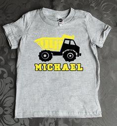Custom Dump truck kids t-shirt by myeverydaydesign
