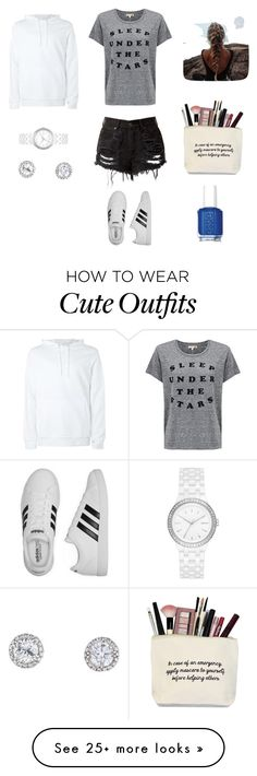 """Cute outfit"" by stuff4m on Polyvore featuring Sundry, adidas, DKNY and Essie"