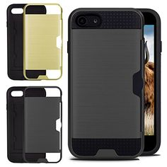 iPhone 7 Card Case with 2 Interchangeable Covers Black & Gold with Card Slot Iphone 8, Iphone Cases, Card Case, Apple Watch, Black Gold, Slot, Cover, Stuff To Buy, Iphone Case
