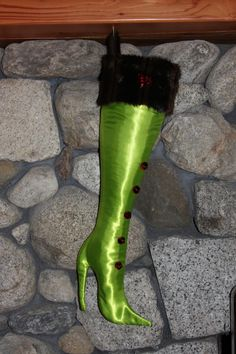 The Festive Lime - Sassy and Classy Stiletto Boot Stocking