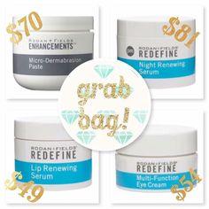 Microdermabrasion paste, night renewing serum, lip renewing serum and my favorite, multi-functioning eye cream! aehrhart.myrandf.com