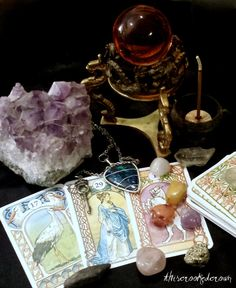 Combination Divination and Tarot/Oracle Reading. Scrying, Pendulum, Lots, Tarot, Oracle.  Seven card tarot or oracle reading combined with other divination techniques.
